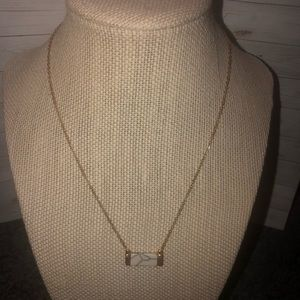 Jewelry - White Marble Bar Necklace